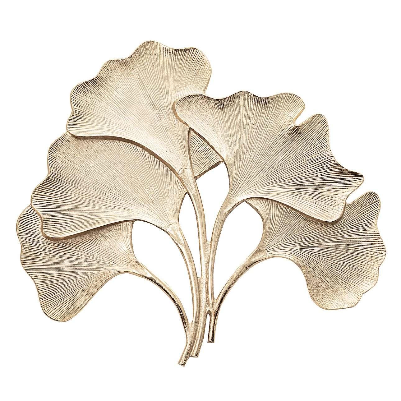 Závěsná dekorace květ Ginkgo Gold 74x68cm