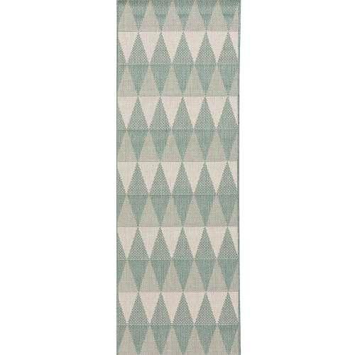 Dywan Lineo spa blue/wool 60x180cm