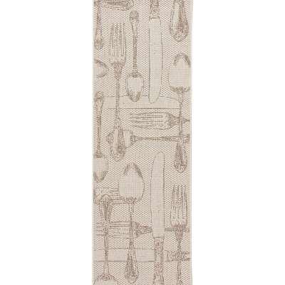 Teppich Cottage Cutlery wool/ min 60x180cm Teppiche - Dekoria.de