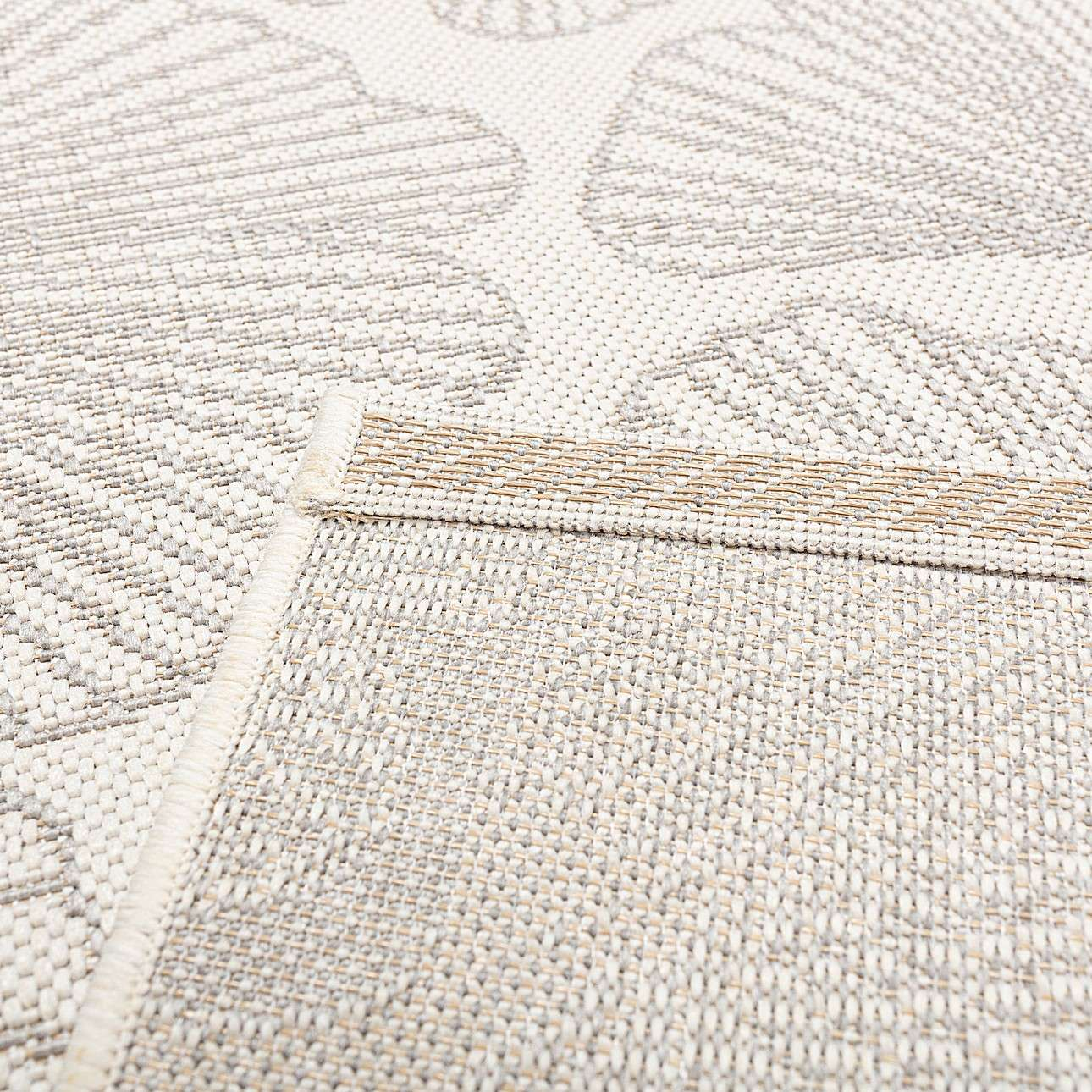 Cottage snow white/silver Rug 120x170cm