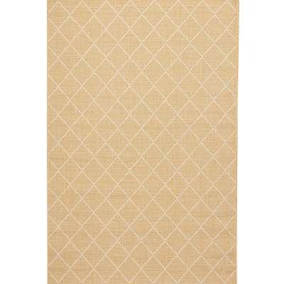 Vloerkleed Lineo honey gold/snow white 160x230cm Vloerkleden - Dekoria.nl