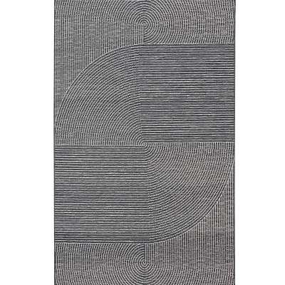 Vloerkleed Velvet wool/petrol blue 160x230cm