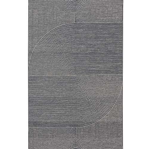 Koberec Velvet wool/petrol blue 160x230cm