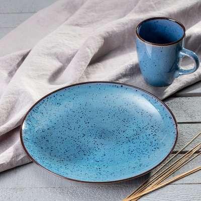 Talerz Corfu Blue 26cm Talerze - Dekoria.pl