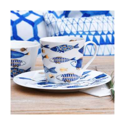 Hrnek Fish 400ml Porcelán, keramika, sklo - Dekoria-home.cz