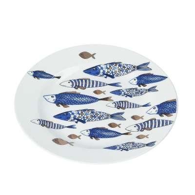 Bord Fish 21cm Borden - Dekoria.nl
