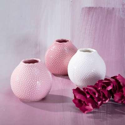 Vase Tessa Pink 13cm Vasen - Dekoria.de