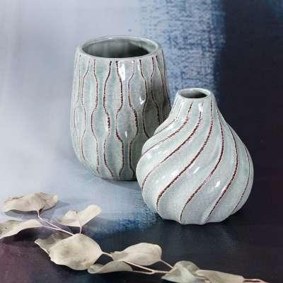 Vase Uma Mint 13,5cm Vases - Dekoria.co.uk