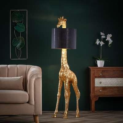 Podlahová lampa Gold Giraffe výška 171cm Lampy a svítidla podlahová - Dekoria-home.cz