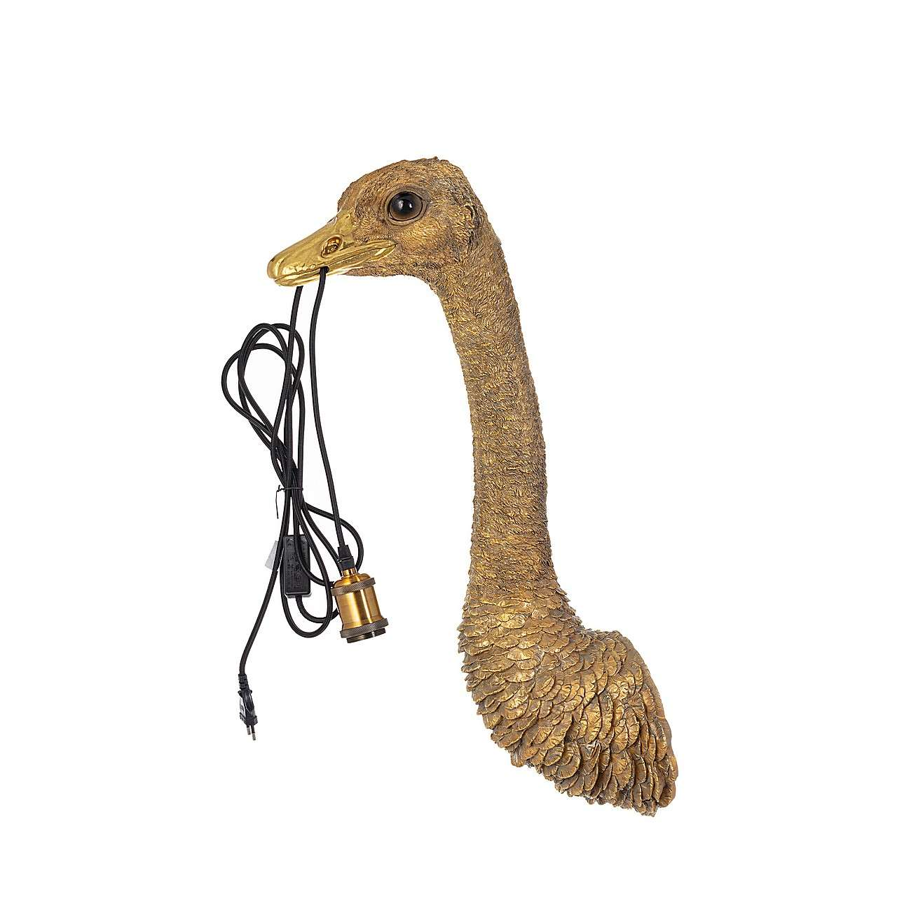 Lampa ścienna Gold Ostrich 72cm