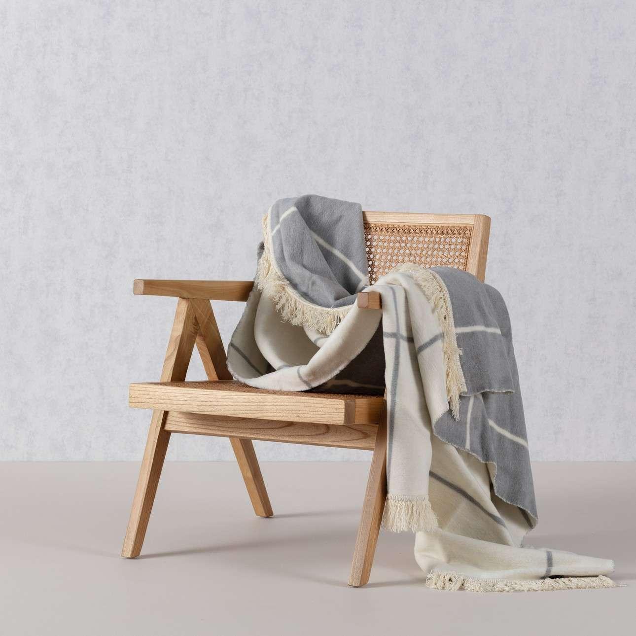 Deka Cotton Cloud 150x200 Grey&Ecru Check