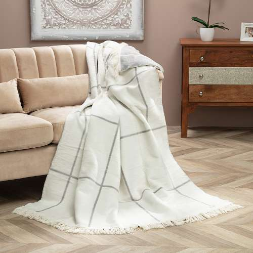 Koc Cotton Cloud 150x200 Grey&Ecru Check