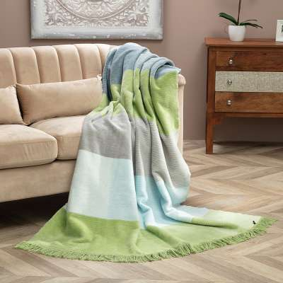 Koc Cotton Cloud 150x200cm Pastel Green&Blue
