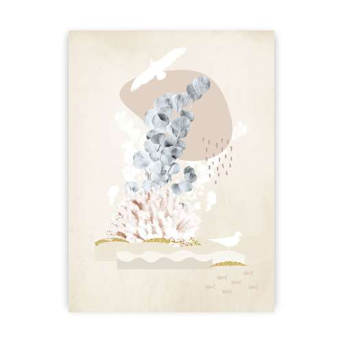 Beige Abstract I Poster