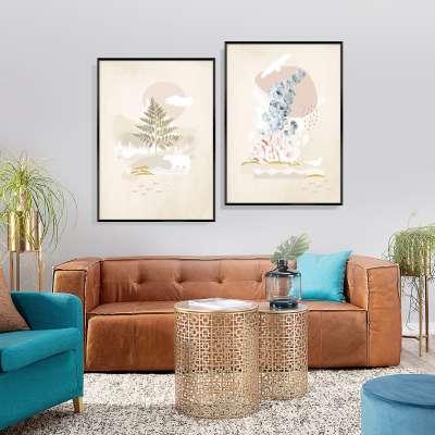 Beige Abstract II Poster Home Furnishings & Decorations - Dekoria.co.uk