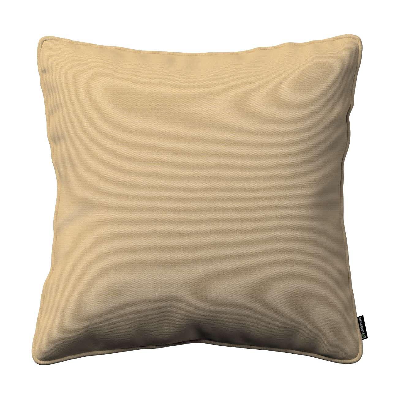 Kissenhülle Gabi mit Paspel 45 x 45 cm von der Kollektion Cotton Panama, Stoff: 702-01