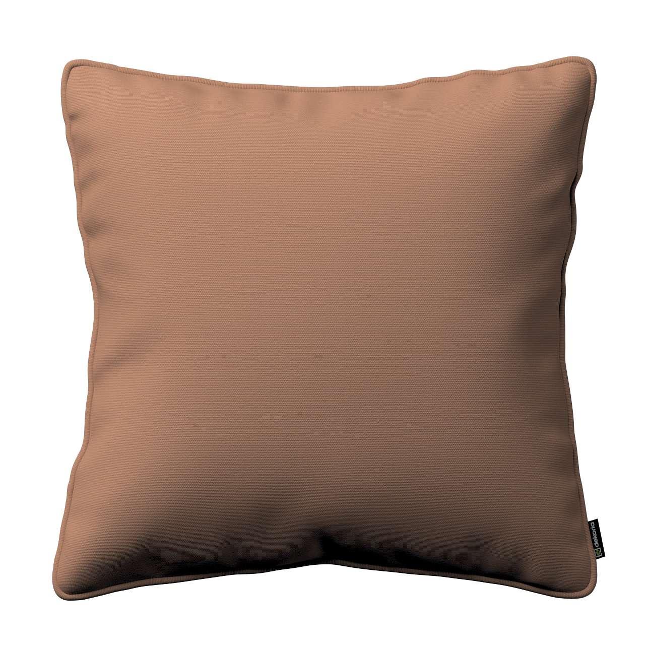 Kissenhülle Gabi mit Paspel 45 x 45 cm von der Kollektion Cotton Panama, Stoff: 702-02