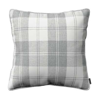 Poszewka Gabi na poduszkę 115-79 krata szaro-biała Kolekcja Edinburgh