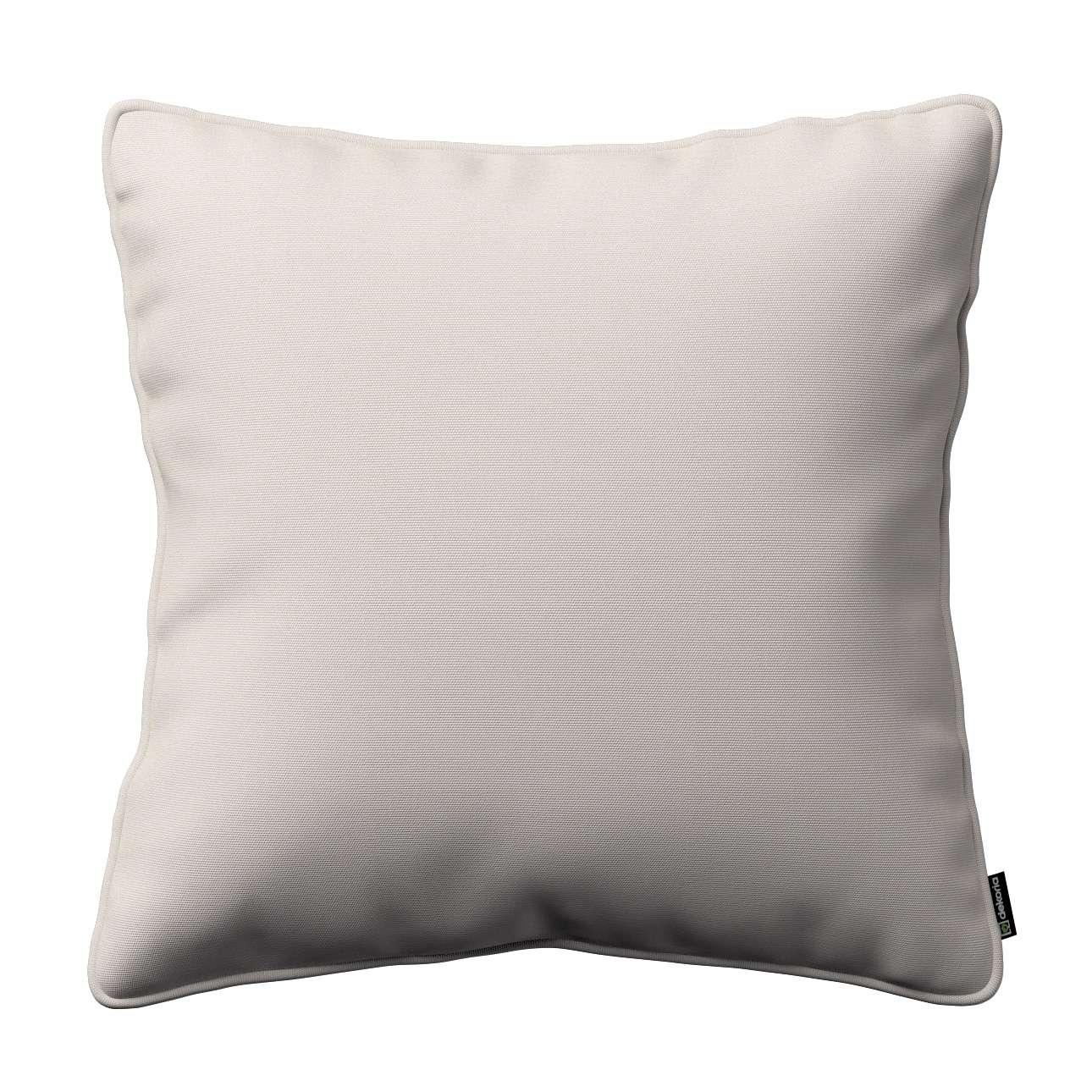 Kissenhülle Gabi mit Paspel 45 x 45 cm von der Kollektion Cotton Panama, Stoff: 702-31