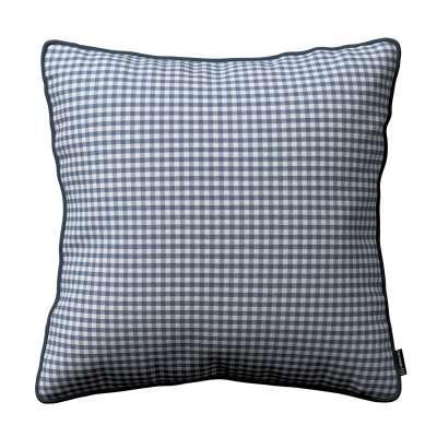 Poszewka Gabi na poduszkę 136-00 granatowo biała krateczka (0,5x0,5cm) Kolekcja Quadro
