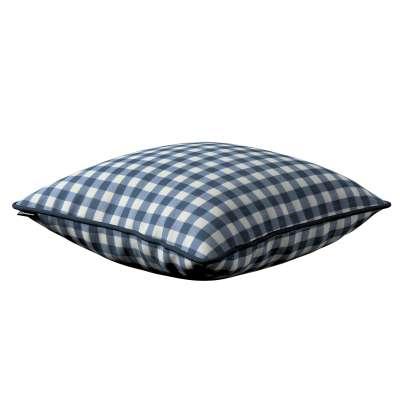 Poszewka Gabi na poduszkę 136-01 granatowo biała kratka (1,5x1,5cm) Kolekcja Quadro