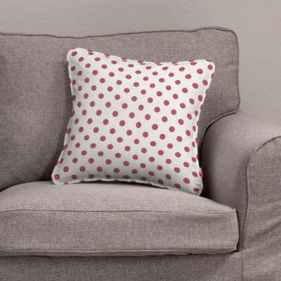 Gabi piped cushion cover 137-70 red spots on white background Collection Little World