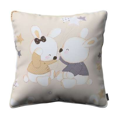 Gabi piped cushion cover 141-85 beige Collection Adventure