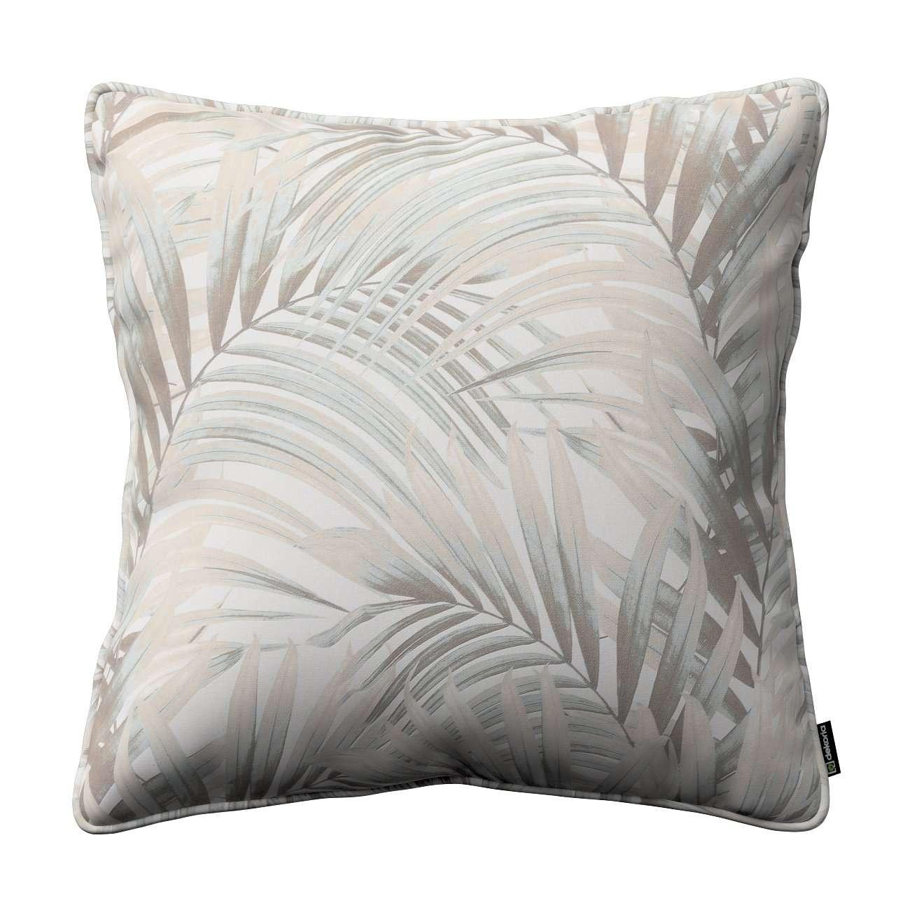 Kissenhülle Gabi mit Paspel, beige-creme, 60 × 60 cm, Gardenia | Heimtextilien > Bettwäsche und Laken > Kopfkissenbezüge | Dekoria
