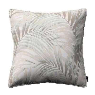 Poszewka Gabi na poduszkę 142-14 beżowo- kremowe liście palmy na białym tle  w  Kolekcja Gardenia