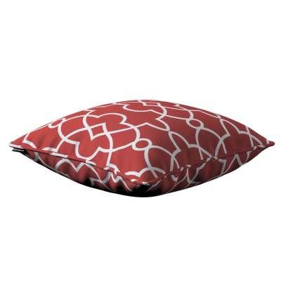 Poszewka Gabi na poduszkę 142-21 czerwony w biały marokański wzór Kolekcja Gardenia