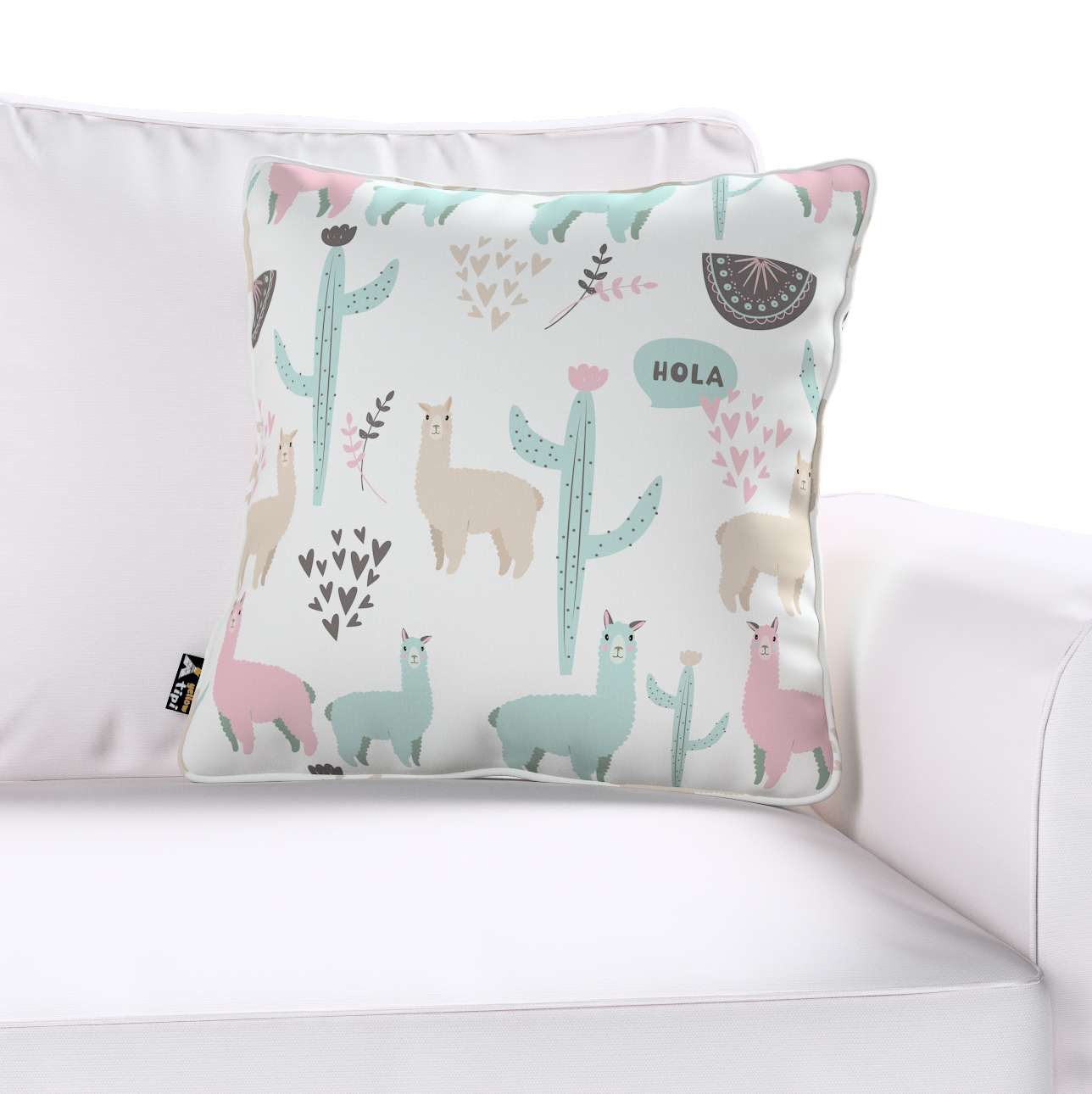 Lola piped cushion cover in collection Magic Collection, fabric: 500-01