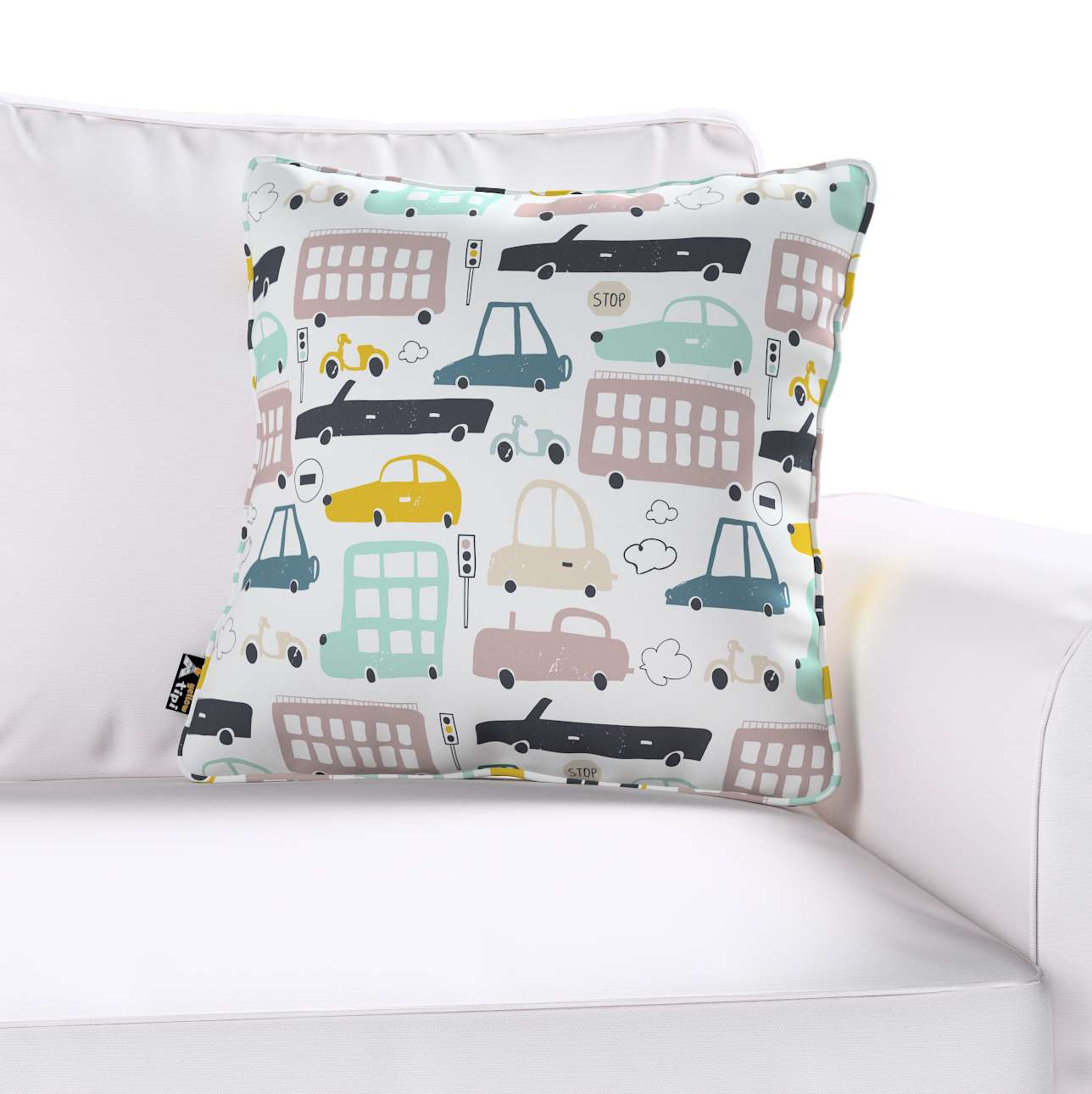Lola piped cushion cover in collection Magic Collection, fabric: 500-02