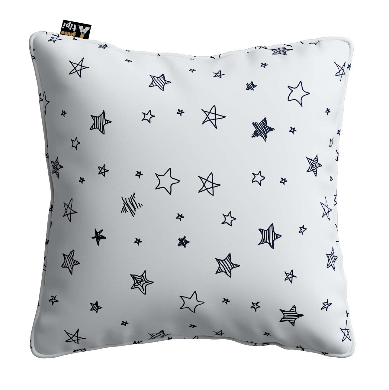 Lola piped cushion cover in collection Magic Collection, fabric: 500-08