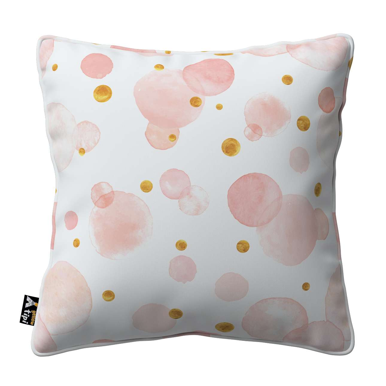 Lola piped cushion cover in collection Magic Collection, fabric: 500-13
