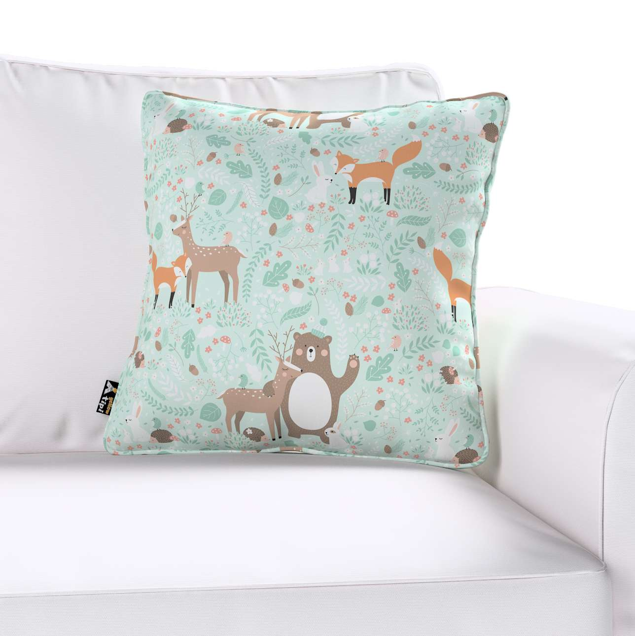 Lola piped cushion cover in collection Magic Collection, fabric: 500-15