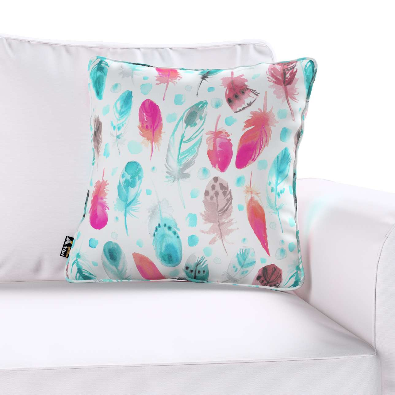 Lola piped cushion cover in collection Magic Collection, fabric: 500-17