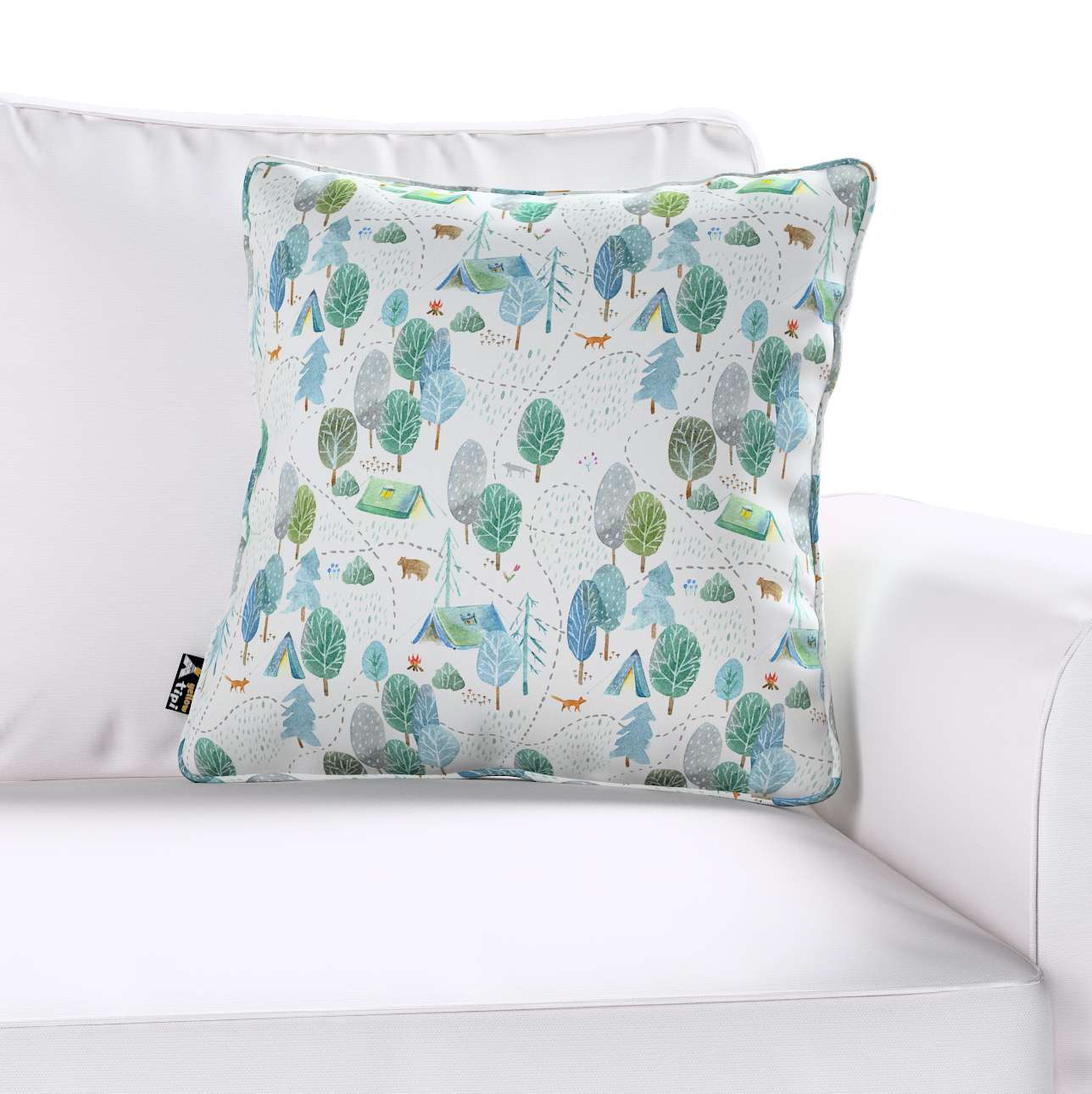 Lola piped cushion cover in collection Magic Collection, fabric: 500-21
