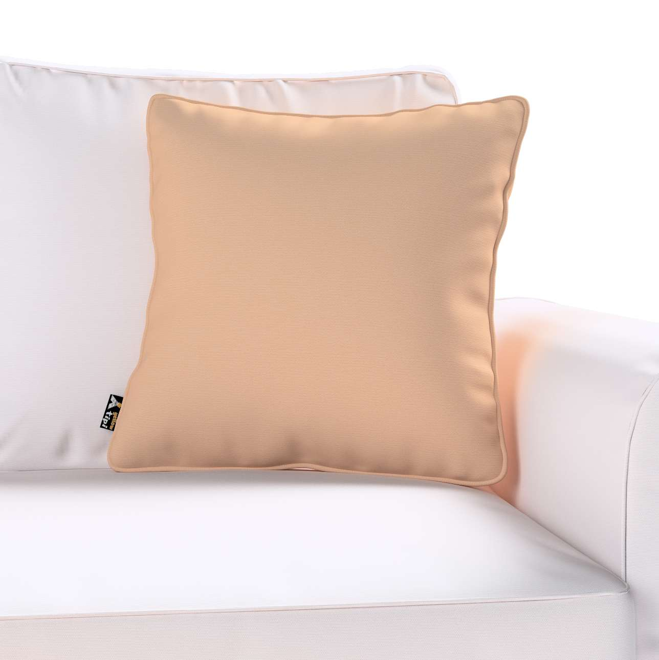 Lola piped cushion cover in collection Cotton Story, fabric: 702-01