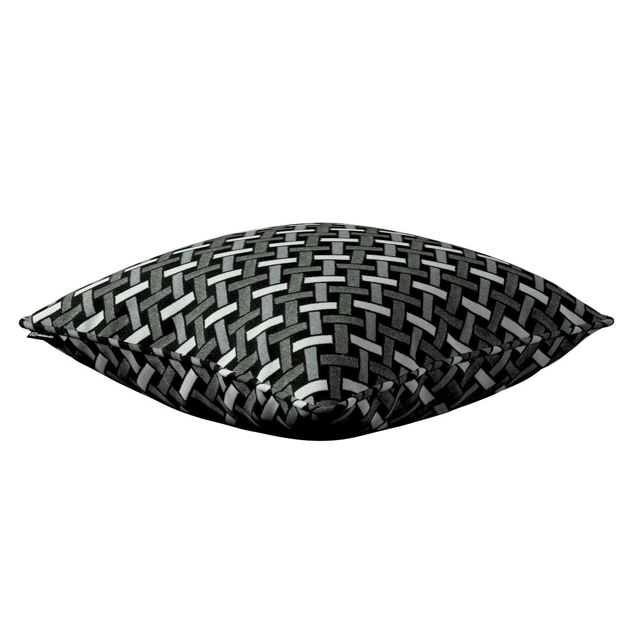 Gabi - potah na polštář šňůrka po obvodu v kolekci Black & White, látka: 142-87