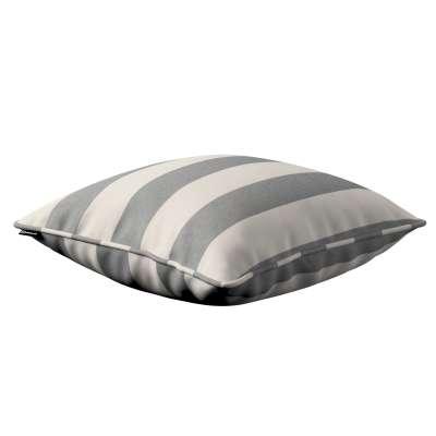 Poszewka Gabi na poduszkę 142-71 biało - szare pasy (5,5cm) Kolekcja Quadro