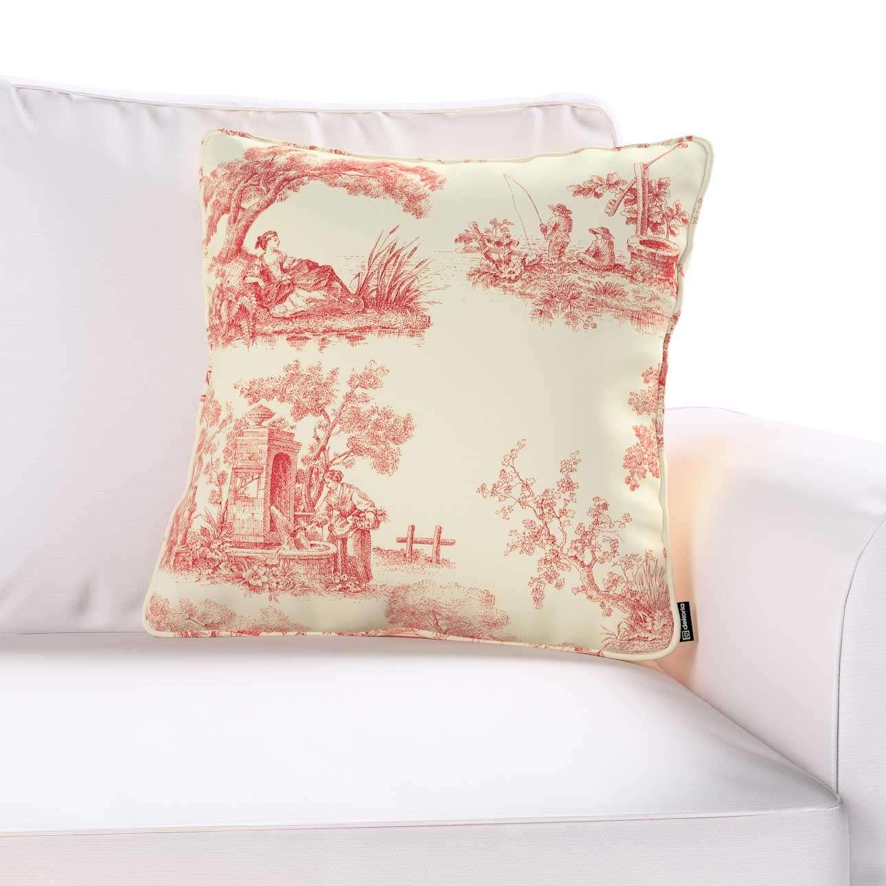 Gabi dekoratyvinės pagavėlės užvalkalas su specialia siūle 45 × 45 cm kolekcijoje Avinon, audinys: 132-15