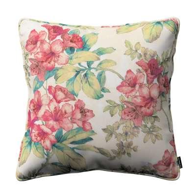 Poszewka Gabi na poduszkę 143-40 różowe kwiaty na tle ecru Kolekcja Londres