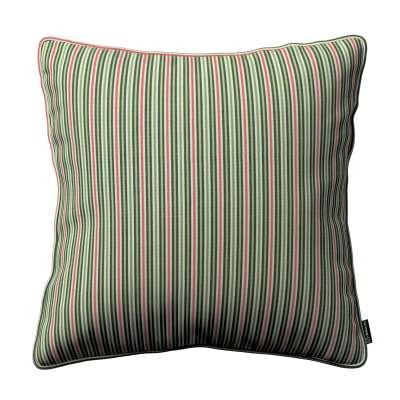 Poszewka Gabi na poduszkę 143-42 pasy w odcieniach zieleni i czerwieni Kolekcja Londres