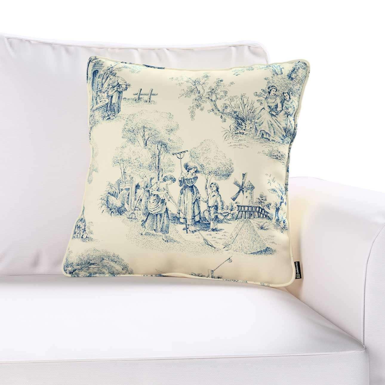 Gabi dekoratyvinės pagavėlės užvalkalas su specialia siūle 45 x 45 cm kolekcijoje Avinon, audinys: 132-66