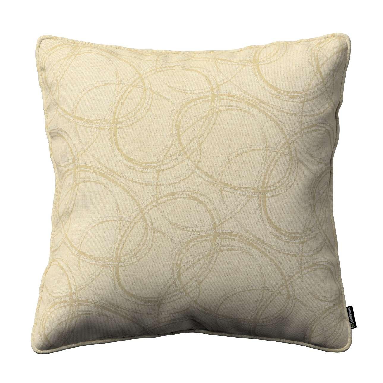 Dekoria Gabi - potah na polštář šňůrka po obvodu, geometrický vzor na krémovém pozadí , 60 × 60 cm, Living, 161-81