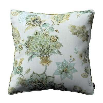 Poszewka Gabi na poduszkę 143-67 kwiaty na beżowo - szarym tle Kolekcja Flowers