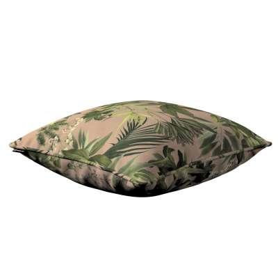 Poszewka Gabi na poduszkę 143-71 zielona roślinność na brudnoróżowym tle Kolekcja Tropical Island