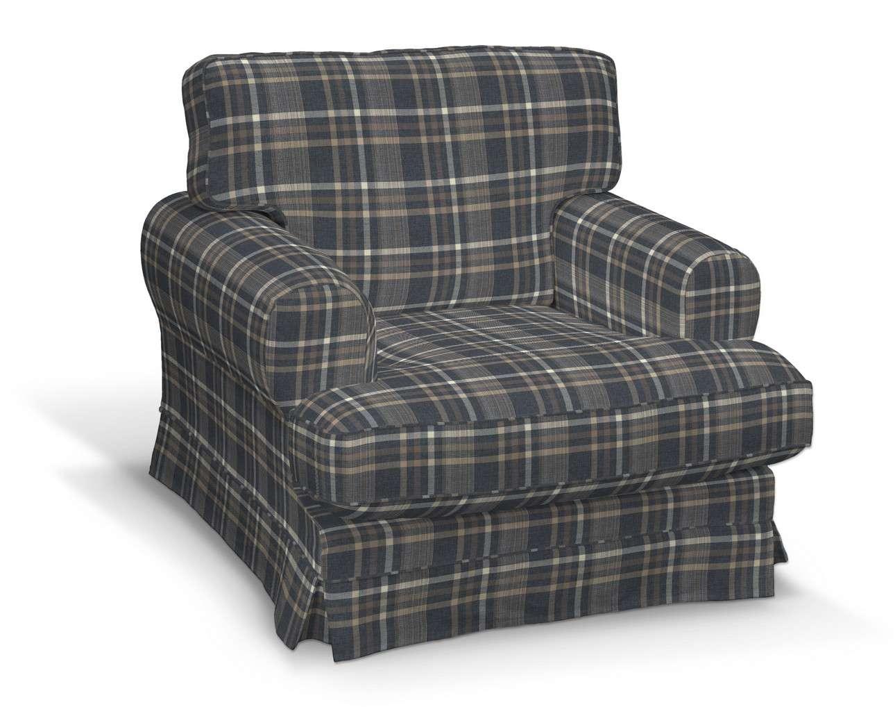 Ekeskog klädsel Fåtölj i kollektionen Edinburgh, Tyg: 703-16