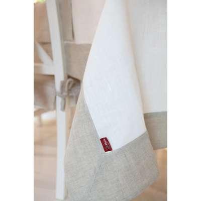 Obrus z ramką w kolekcji Linen, tkanina: 392-04
