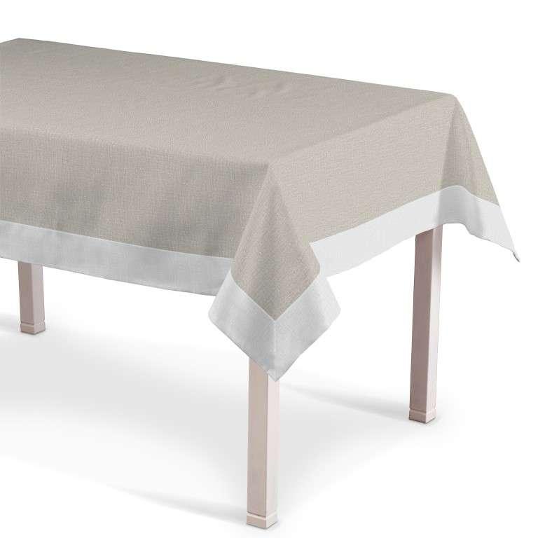 Obrus z ramką 130x130 cm w kolekcji Linen, tkanina: 392-05